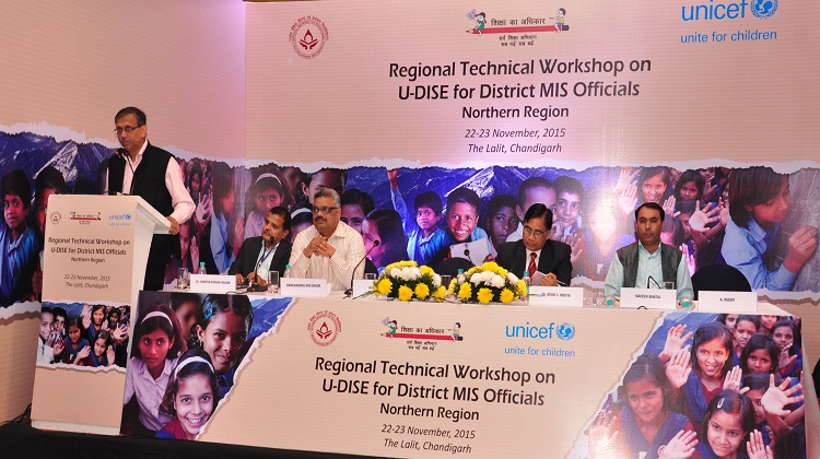 State Project Director, Sh. Alok Verma, IFS addressing the particippants