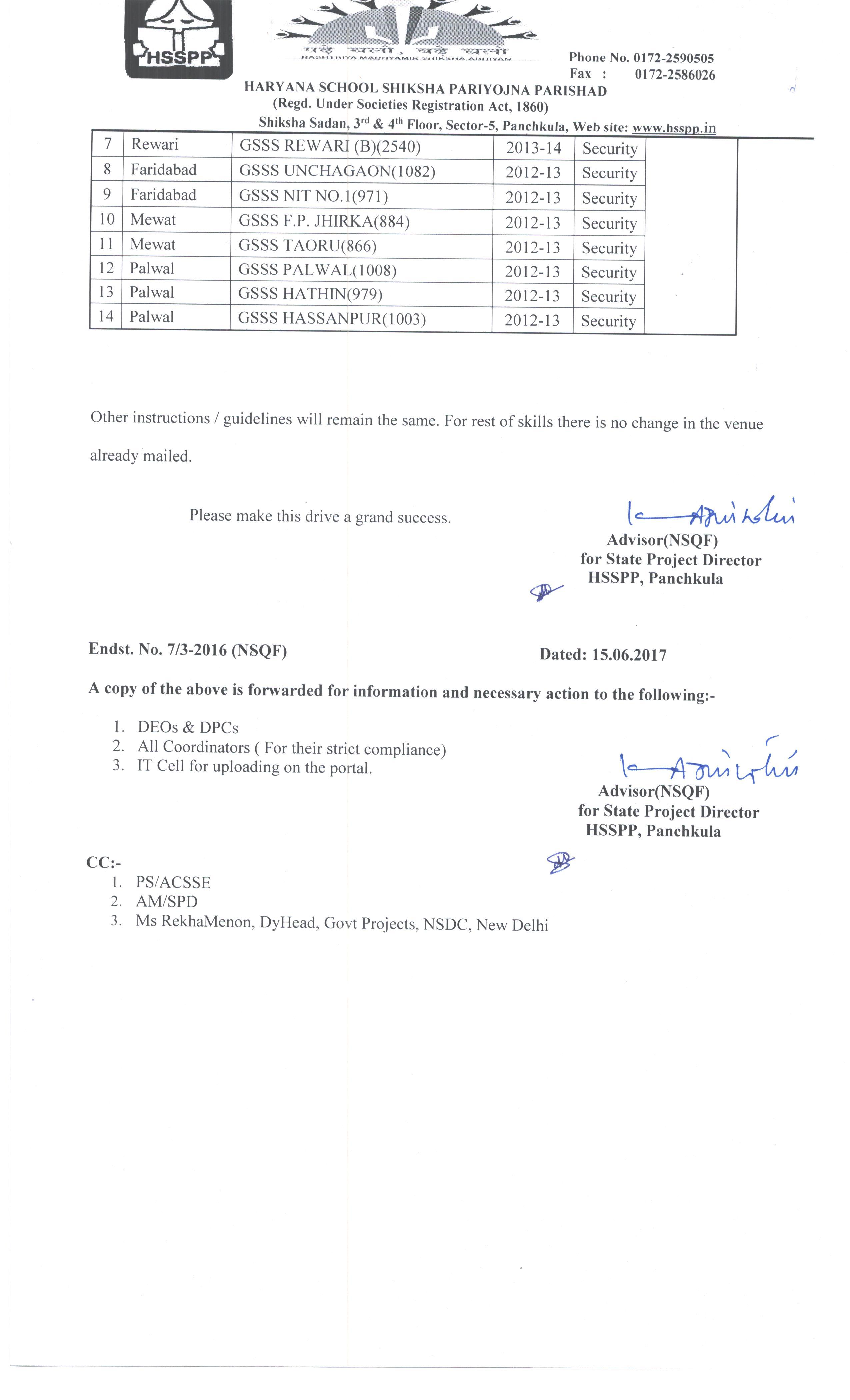 NSQF Haryana